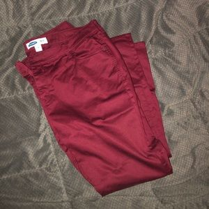 Old Navy Maroon Jeans